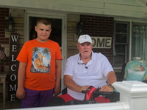 12-year-old boy's random act of kindness to help disabled man warms hearts