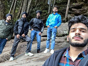 Sikh hikers use their turbans to make a rope and save two men caught in waterfall pool
