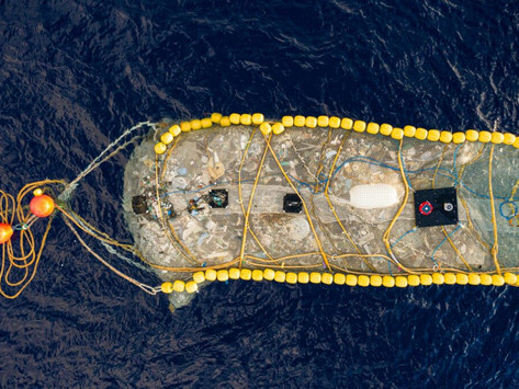New device just cleaned up 20,000 pounds of trash out of the Pacific ocean's Garbage Patch