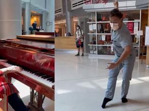 Utah hospital employee brings joy by performing spontaneous ballet in lobby