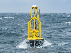 Huge machine captures energy from ocean waves