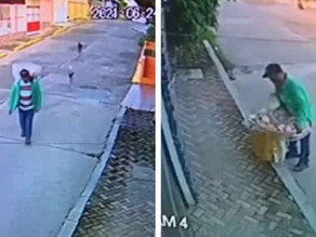 Camera Catches Street Vendor Sharing What Little He Has With Hungry Stray Dogs