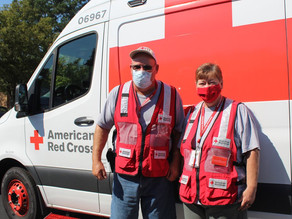 Two local volunteers lending helping hand to those hit by Hurricane Ida