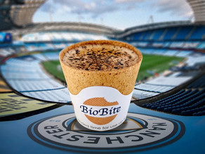 Football fans can now treat themselves to coffee in a cup they can eat