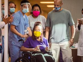 A brain dead ear coronavirus patient just walked out of the hospital a survivor