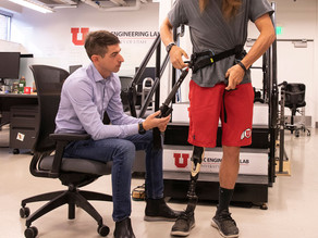 Powered exoskeleton helps amputees walk with less effort