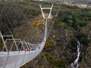 World's longest pedestrian suspension bridge set to open in Portugal