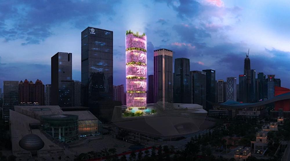 """51 story """"Farmscraper"""" combines office skyscraper with hydroponic farm"""