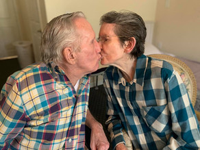 Couple married for 60 years reunites after 215 days apart