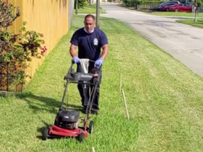 Firefighters Mow Lawn of 83-Year-Old Army Veteran After Treating Him for Heat Exhaustion