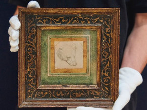 Head of a bear sets new record for a drawing by Leonardo da Vinci, selling for £8.8m