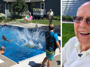 Kindhearted senior overcomes grief by building a pool for neighborhood kids