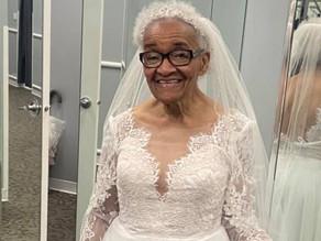 Woman, 94, wears the wedding dress she was denied buying 70 years ago