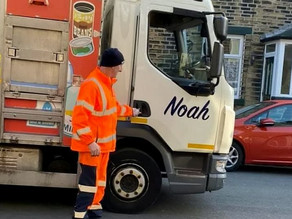 Adorable three-year-old boy 'obsessed' with sanitation workers is made an honorary binman