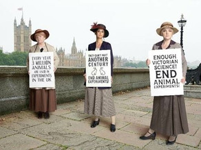 Harry Potter and Downton Abbey Stars Recreate Iconic Animal Rights Photo From 100 Years Ago
