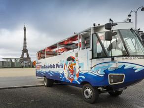 France's first amphibious tour bus is Paris's latest tourist attraction
