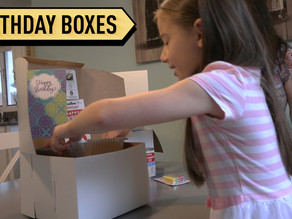 Kindhearted 6 year old girl makes birthday boxes for those in need