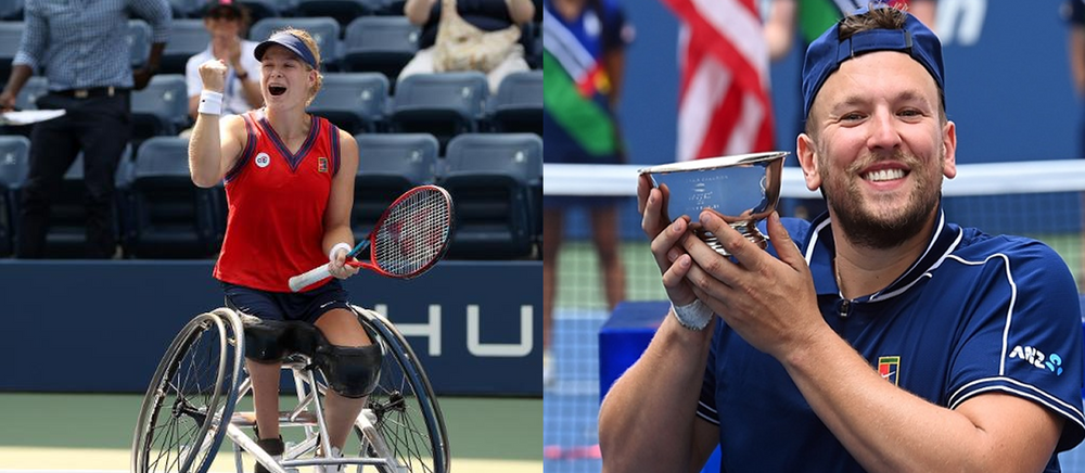 Two for two: Dylan Alcott and Diede de Groot win historic wheelchair tennis Golden Slams