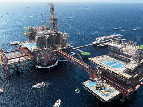 Saudi Arabia to convert oil rig into a 150,000 square metre 'extreme park' and resort