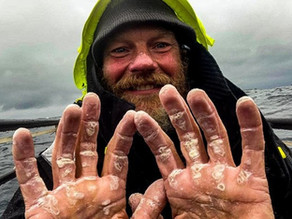 Ex-Marine overcomes his fear of water to row across the Atlantic alone in 119 days