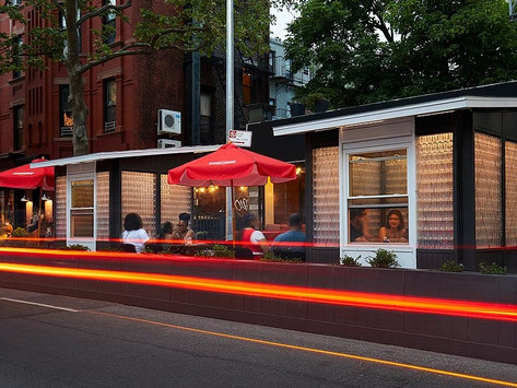 'Friendship Cabins': The future of outdoor dining made from recycled plastic bottles