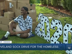 Loveland grad William Heard collects thousands of socks for people experiencing homelessness.