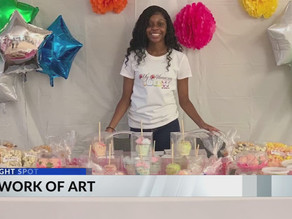 Teen combines love of art and sweet treats to create a new business from her kitchen
