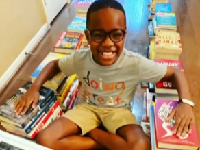 Texas boy on a mission to donate 500,000 books by the end of the month
