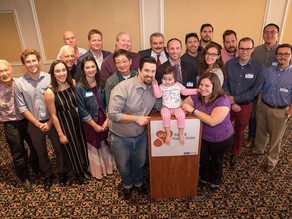 Brave toddler meets 24 strangers who saved her life