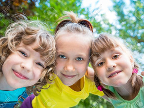 Nature draws out a happy place for children