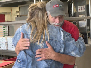 Act of kindness brings Papa John's worker to tears days before retirement