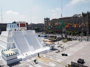 Replica of the Templo Mayor honors the 500-year anniversary of the fall of the Aztecs