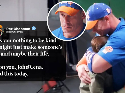 'Kindness matters': Fan's moving response to John Cena's 'never give up' message