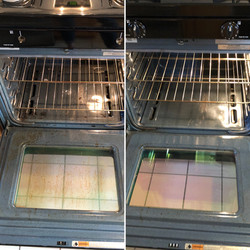 Before and After Oven Grime