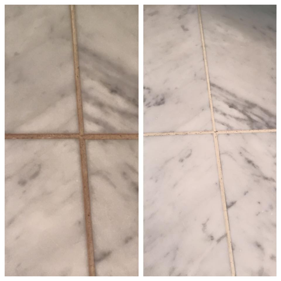 Clean grout can brighten your room!