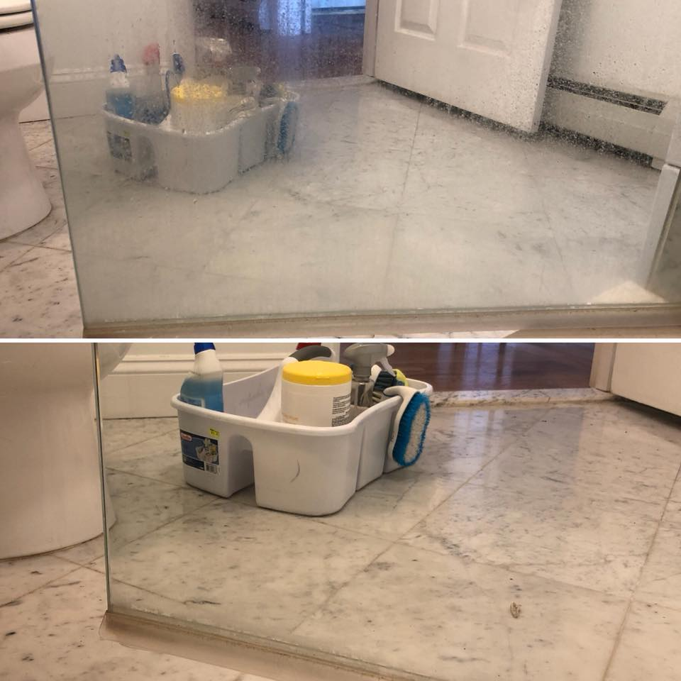 Hard water and soap scum buildup
