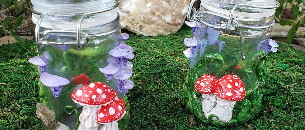 Woodland Amanita Mushroom Herb Jar