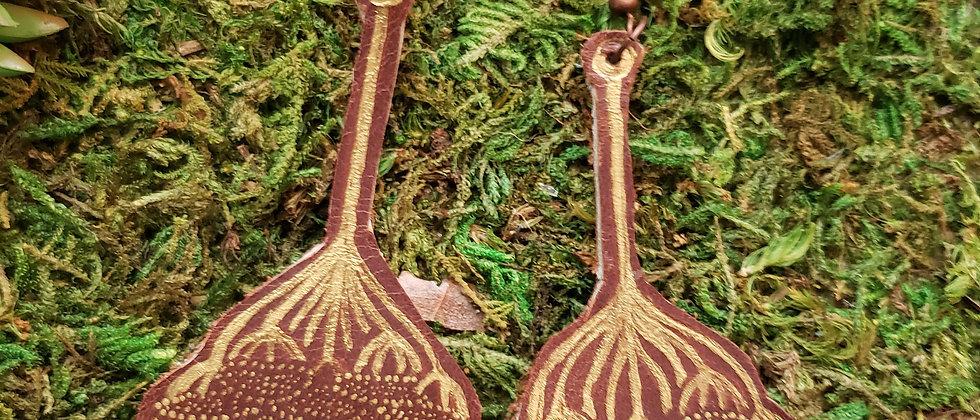 Art Nouveau Hydrangea Earrings
