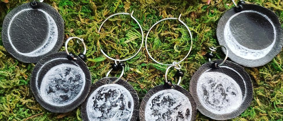Moon Phase Interchangeable Earrings