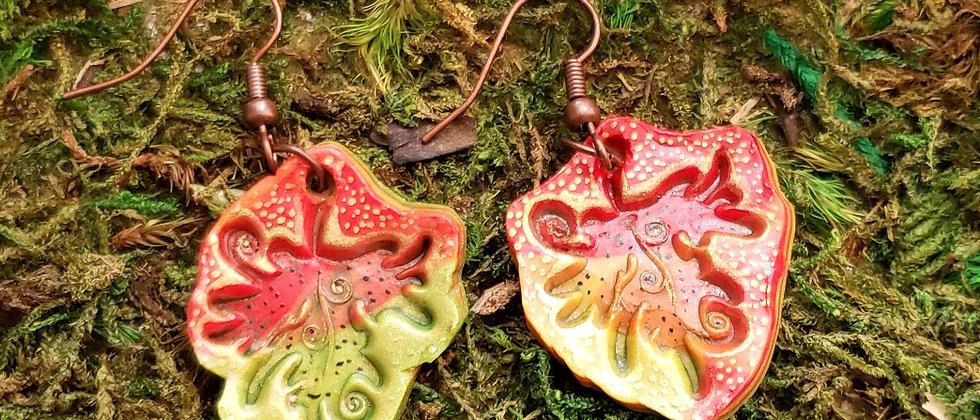 Autumn Rainbow Polymer Clay Earrings