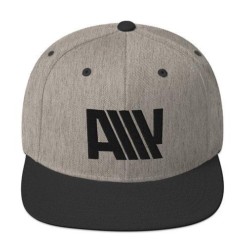 Lean Back Duotone Black Snapback Hat