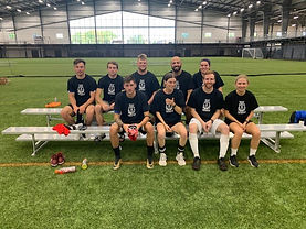 Coed Soccer Tournament Winners Squealing