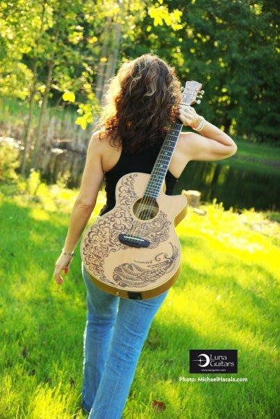 Luna Guitars photo shoot