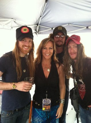with Cadillac Three on the Hard Rock Cafe Stage during CMA Fest