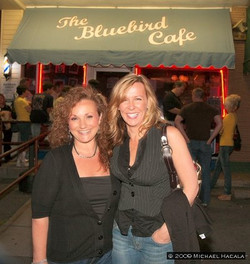 After performance at Bluebird Cafe