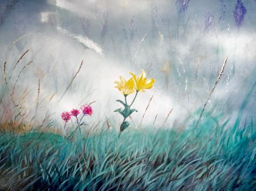 Flowers in Mist