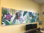 sound panel murals for Lakeside Pediatric Dentistry in Port Huron, Michigan.