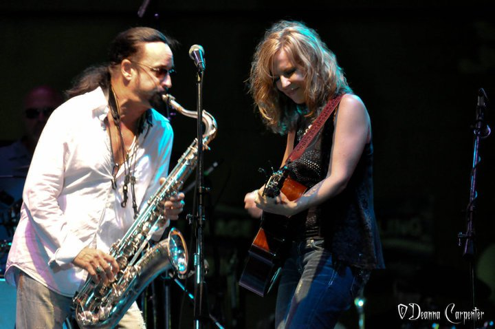 performing with Alto Reed