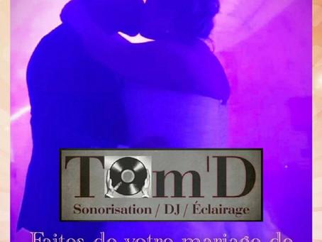 Tom'D Sono - Animation DJ Évènementiel / Le prestataire MARIAGE de la région NORD et de la Belgique!