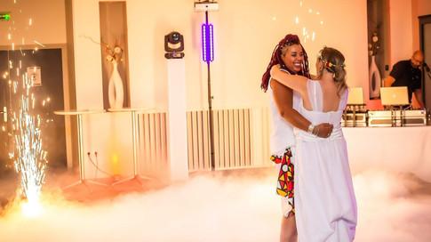 MARIAGE Fumée lourde + Artifices d'intérieur